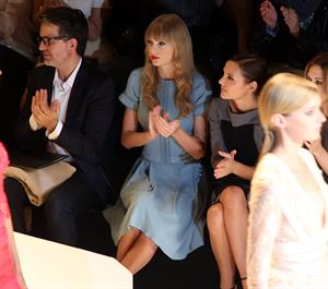 Taylor Swift at the Elie Saab Spring Summer 2012/13 fashion show in Paris 10/3/12