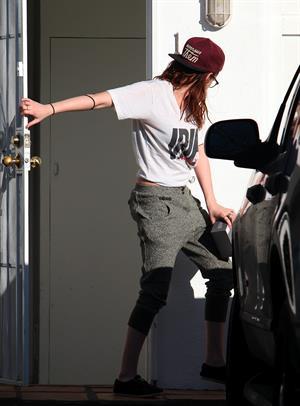 Kristen Stewart outside her home in LA 2/26/13