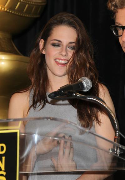 Kristen Stewart at Hollywood Foreign Press Association's Cecil B. Demille Award presentation in Beverly Hills 11/1/12