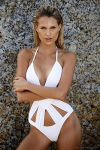 Derryn Lester in a bikini