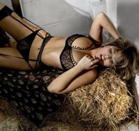 Francesca Larrain in lingerie