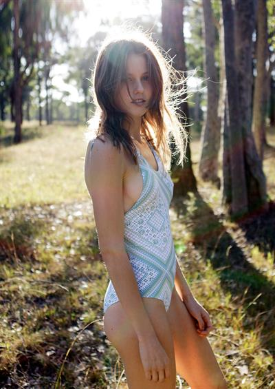 Isabelle Cornish in a bikini