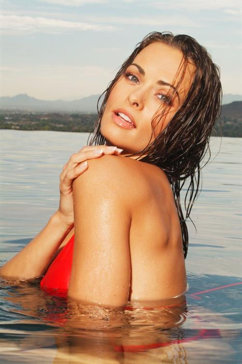 Karen McDougal in a bikini