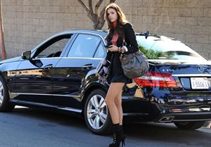 Nina Dobrev out and about in Los Angeles November 15, 2010