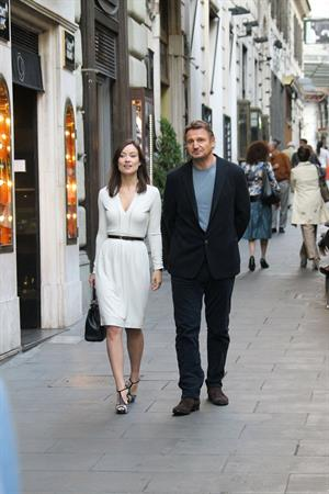 Olivia Wilde Filming  Third Person  in Rome (10/17/12)