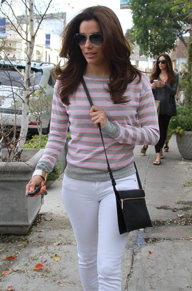 Eva Longoria At Len Paves Salon 02.03.13
