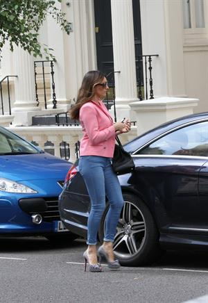 Kelly Brook - Leaving her London home - August 3, 2012