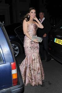 Kelly Brook Arriving home after Elton John Party - June 29, 2012