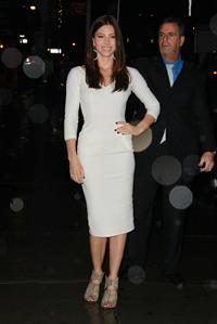 Jessica Biel at the Ed Sullivan Theater in New York City 07-12-11