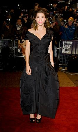 Jessica Biel screening of Easy Virtue during the BFI London Film Festival