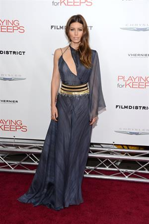 Jessica Biel Screening of 'Playing For Keep's' in New York 05.12.12