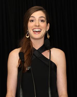 Anne Hathaway LA Gay Lesbian Center Benefit January 23, 2012