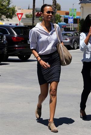 Zoe Saldana in Studio City 7/24/12