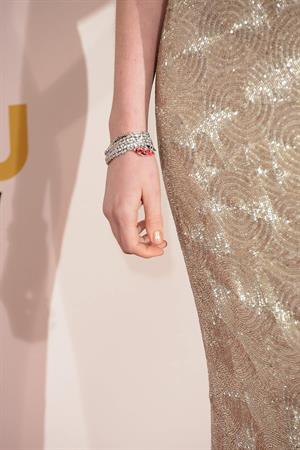 Anne Hathaway attends the Critics' Choice Movie Awards 2013 with Skinnygirl Cocktails at Barkar Hangar