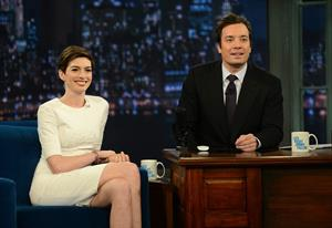 Anne Hathaway Late Night With Jimmy Fallon in New York December 11, 2012