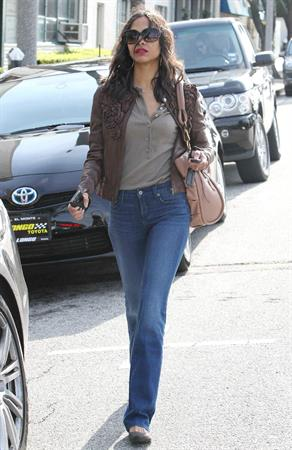 Zoe Saldana after a meeting in Beverly Hills February 23 2011