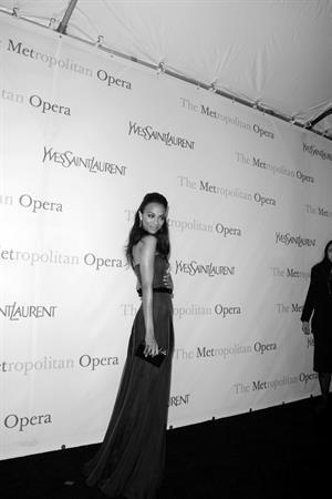 Zoe Saldana Metropolitan Opera 125th Anniversary Gala at Lincoln Center in NYC March 15th, 2009