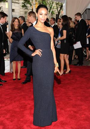 Zoe Saldana ''American Woman - Fashioning A National Identity'' Met Gala in NYC May 3, 2010