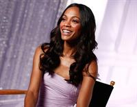 Zoe Saldana - On The Set For Avon's Eternal Magic Fragrance