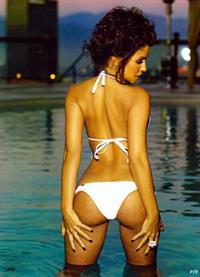 Vida Guerra in a bikini - ass