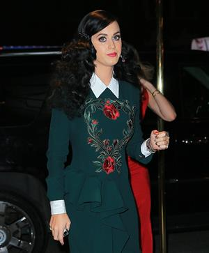 Katy Perry arrives at her secret perfume launch in New York City (May 2, 2013)