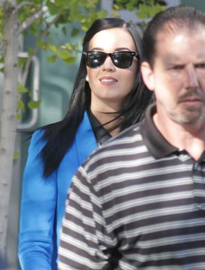 Katy Perry voting in LA November 6, 2012