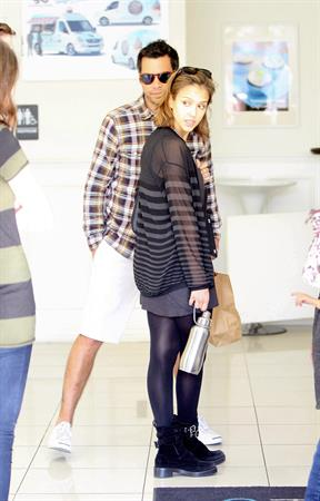 Jessica Alba at Coldwater Park and Famous Cupcakes in Beverly Hills