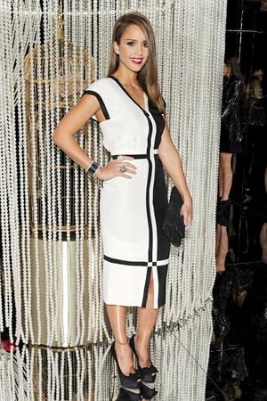Jessica Alba Chanel Numeros Prives opening night party January 21, 2012