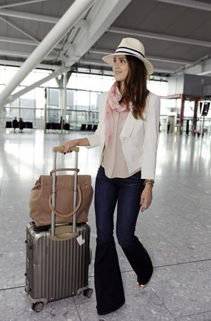 Jessica Alba - Heathrow airport, May 30, 2012