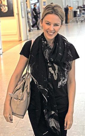 Kylie Minogue Heathrow Airport - November 11, 2012