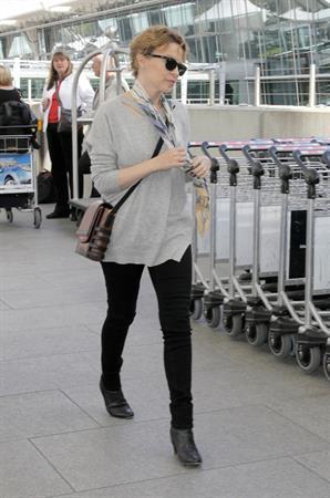 Kylie Minogue Heathrow Airport in London - October 10, 2012