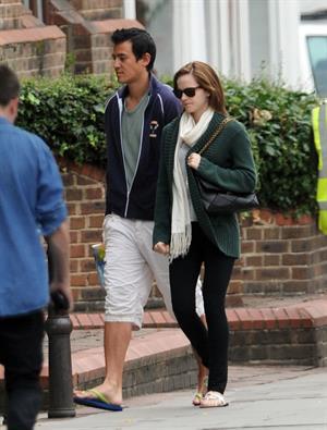 Emma Watson - In London with her boyfriend Will - August 25, 2012