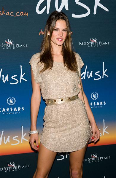 Alessandra Ambrosio Dusks one year anniversary party in Atlantic City June 19, 2010