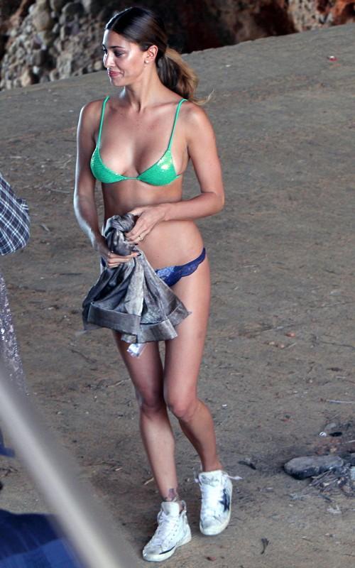 Belén Rodríguez in a bikini