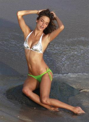Alessandra Ambrosio photoshooting for Victoria's Secret in Saint Barthelemy