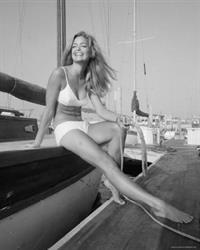 Farrah Fawcett in a bikini