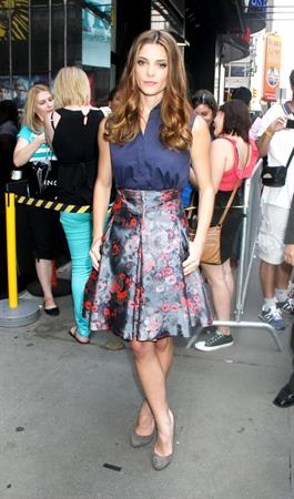 Ashley Greene - Leaving Good Afternoon America studios, NYC - August 24, 2012