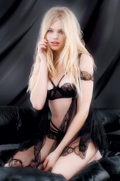 Valerie Van Der Graaf in lingerie
