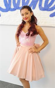 Ariana Grande Kleenex Shield Sneeze Swish event in New York on July 31, 2012