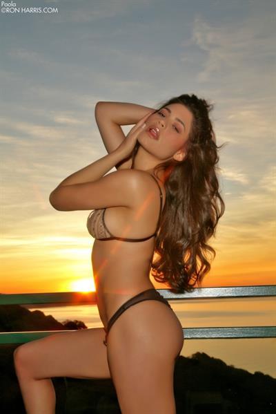 Paola Rey in a bikini