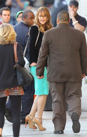 Jennifer Lawrence Arriving at the Jimmy Kimmel Live (January 31, 2013)