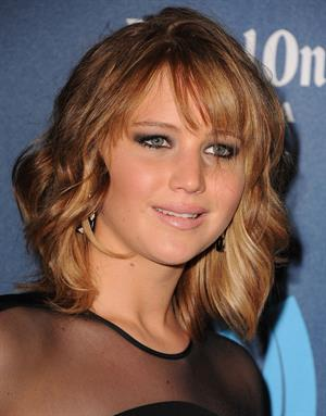 Jennifer Lawrence 24th Annual GLAAD Media Awards in Los Angeles, Apr. 20, 2013