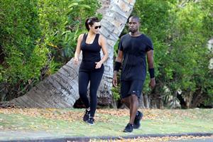 Kim Kardashian and Kanye West Walk in Beverly Hills 11 August 2012