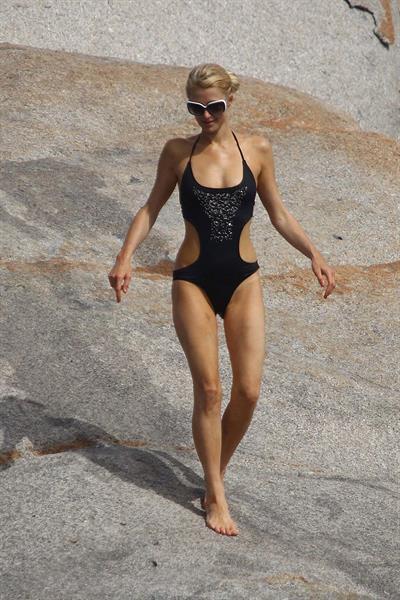 Paris Hilton in a bikini