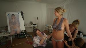 Kate Upton getting painted for the 2013 Sports Illustrated Swimsuit Edition.