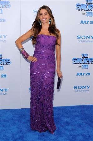Sofia Vergara at The Smurfs World Premiere on July 24, 2011