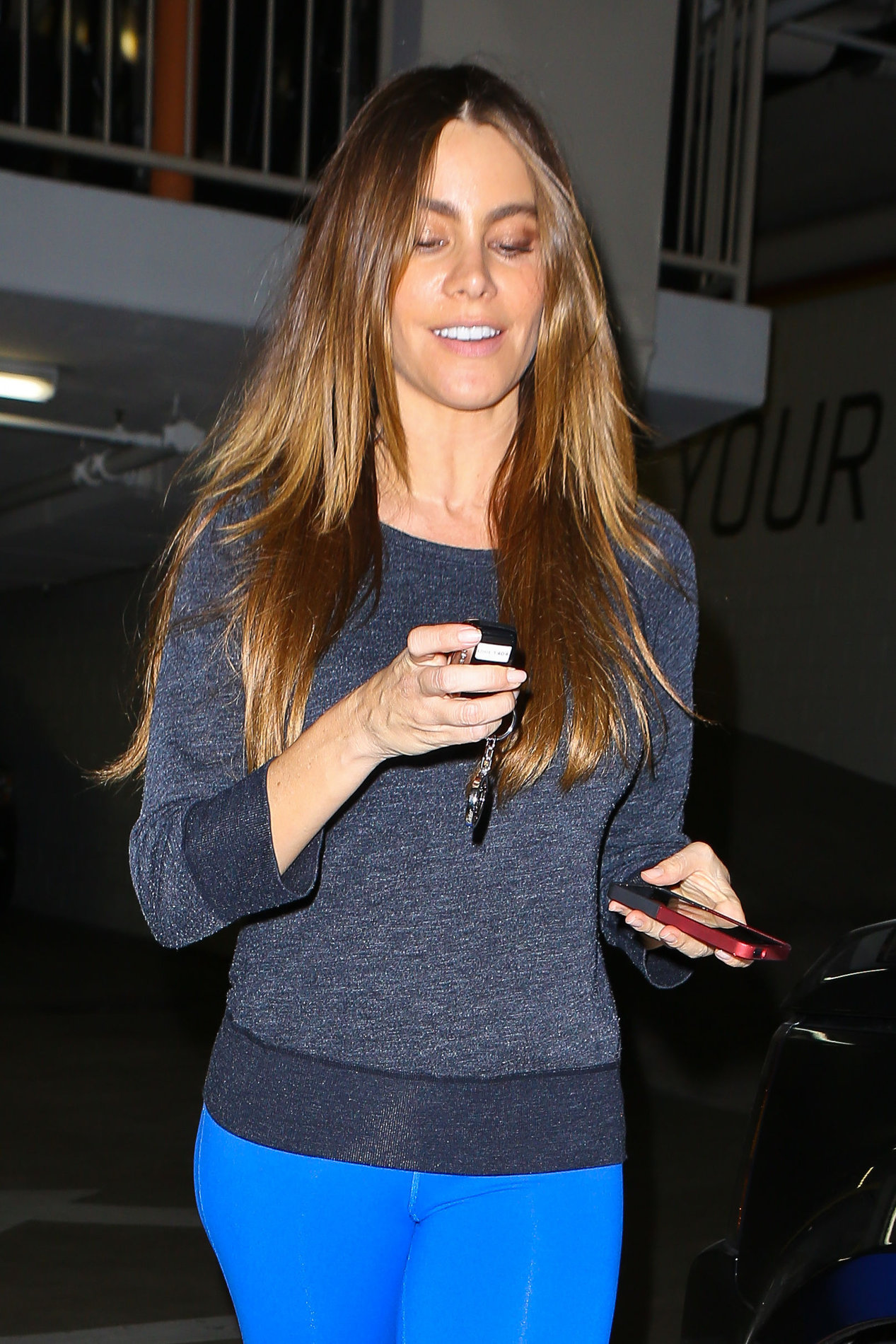 Sofia Vergara booty leaving a gym in Beverly Hills 11/7/12