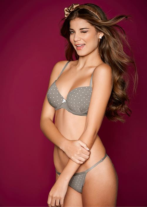 Gabriela Salles in lingerie