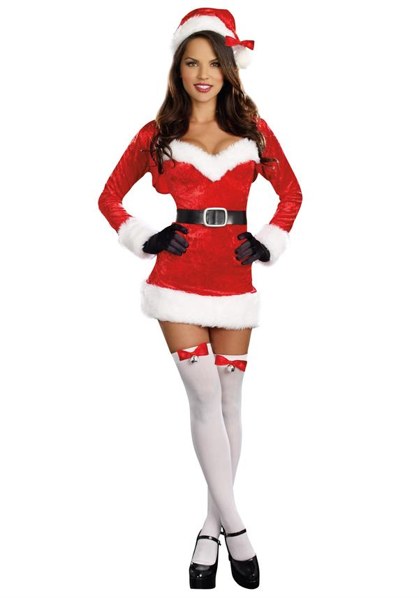Hot girl in santa costume