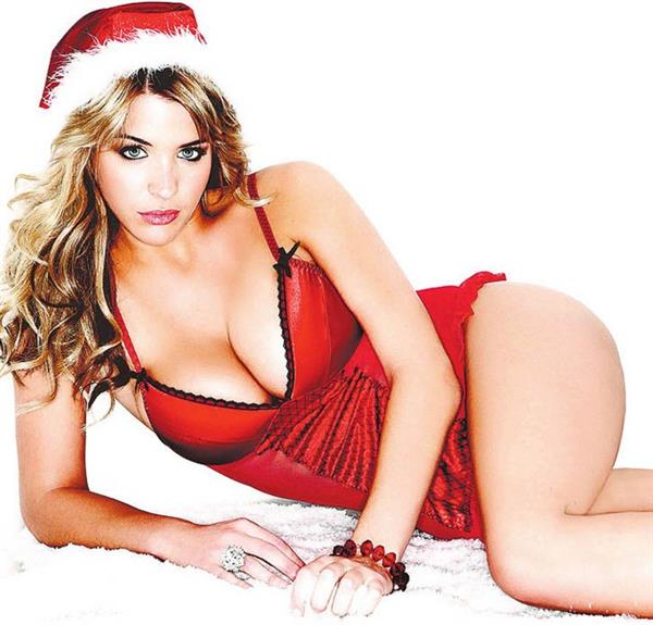 Gemma Atkinson in Christmas lingerie